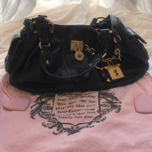 Juicy Couture black genuine leather bag